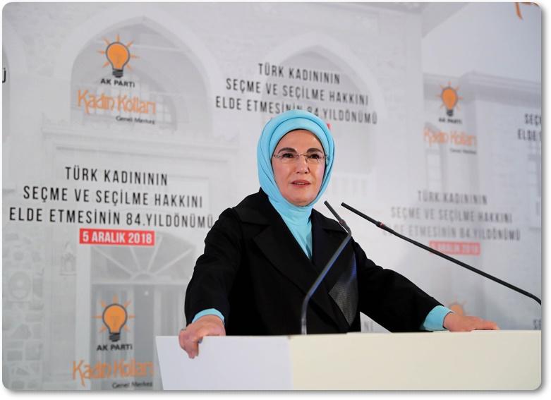 Emine Erdoğan, 5 Aralık Dünya Kadın Hakları Günü etkinliğine katıldı