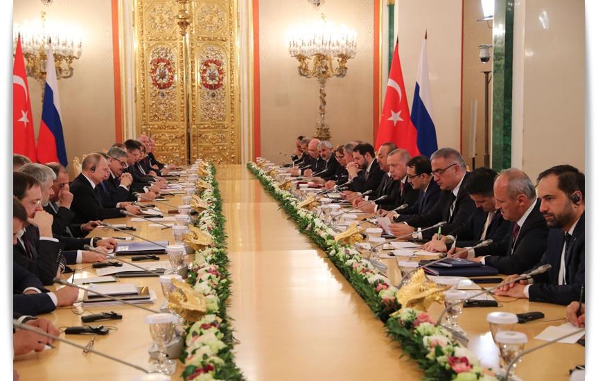 """Cumhurbaşkanı Erdoğan,""""Türkiye ve Rusya'nın ikili ticaret hacmini 100 milyar dolara ulaştırmayı hedefliyoruz"""""""