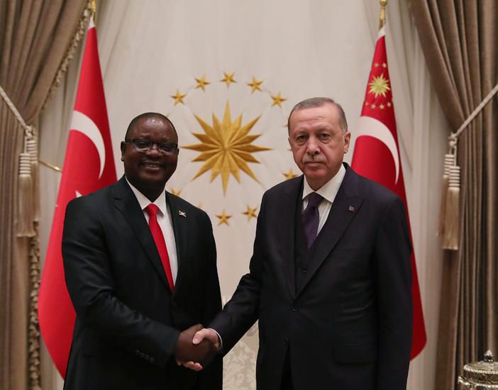 Cumhurbaşkanı Erdoğan,Burundi Büyükelçisi Gerard Ntahorwaroye Bikebako'yu kabul etti