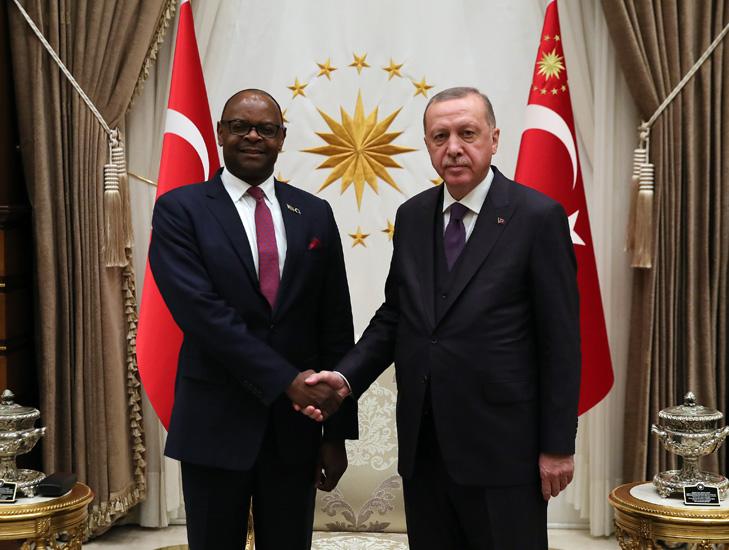 Cumhurbaşkanı Erdoğan, Zimbabve Büyükelçisi Alfred Mutiwazuka'yı kabul etti