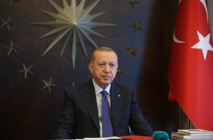 """Cumhurbaşkanı Erdoğan""""Ekonominin çarklarının işlemesi ve istihdamı sürdürmek için pek çok destek paketi geliştirdik"""""""