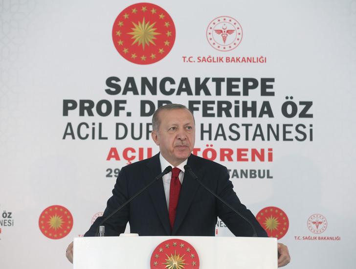 Cumhurbaşkanı Erdoğan, Prof. Dr. Feriha Öz Acil Durum Hastanesi açılış törenine katıldı