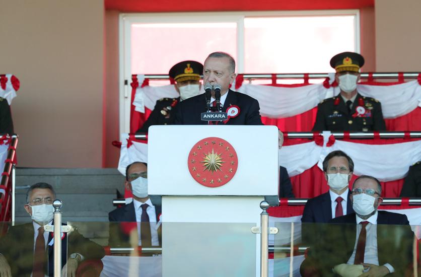 """Cumhurbaşkanı Erdoğan,""""İstiklalimiz ve istikbalimiz için hep birlikte kükremiş bir sel gibi önümüze çıkan bentleri çiğneyip geçmekten geri durmayız"""""""