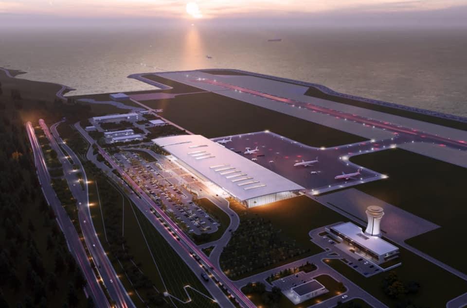 Cumhurbaşkanı Erdoğan, Rize-Artvin Havalimanı inşaatında incelemelerde bulundu