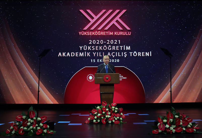 """Cumhurbaşkanı Erdoğan, """"Mümkün olan en kısa sürede yükseköğretimde de yüz yüze eğitimi başlatmayı hedefliyoruz"""""""