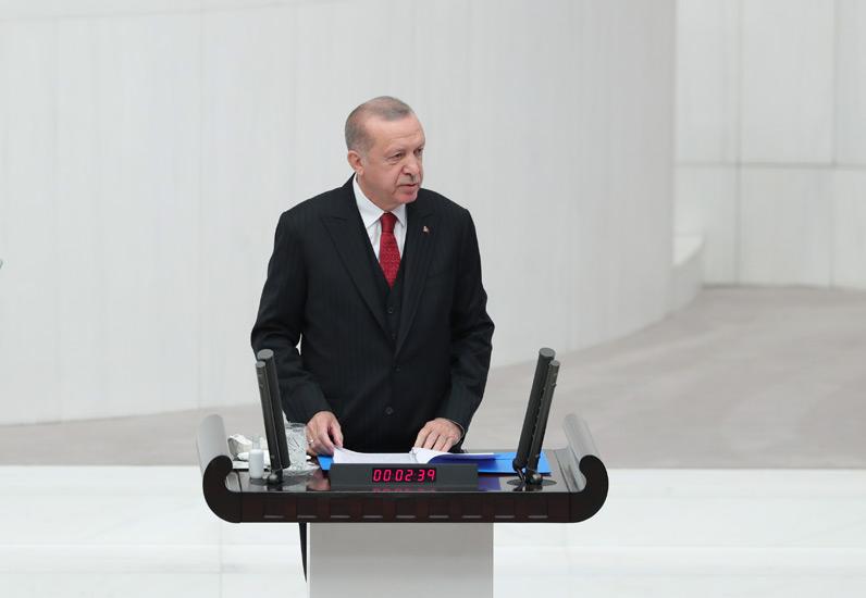 """Cumhurbaşkanı Erdoğan,""""Cumhuriyetimizin 100. kuruluş yıl dönümünü, hedeflerimize ulaşmış olarak, şanına layık kutlamalarla karşılayacağız"""""""