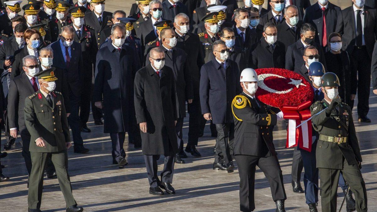 Cumhurbaşkanı Erdoğan, Atatürk'ün ebediyete intikalinin 82'nci yılında Anıtkabir'de düzenlenen anma törenine katıldı
