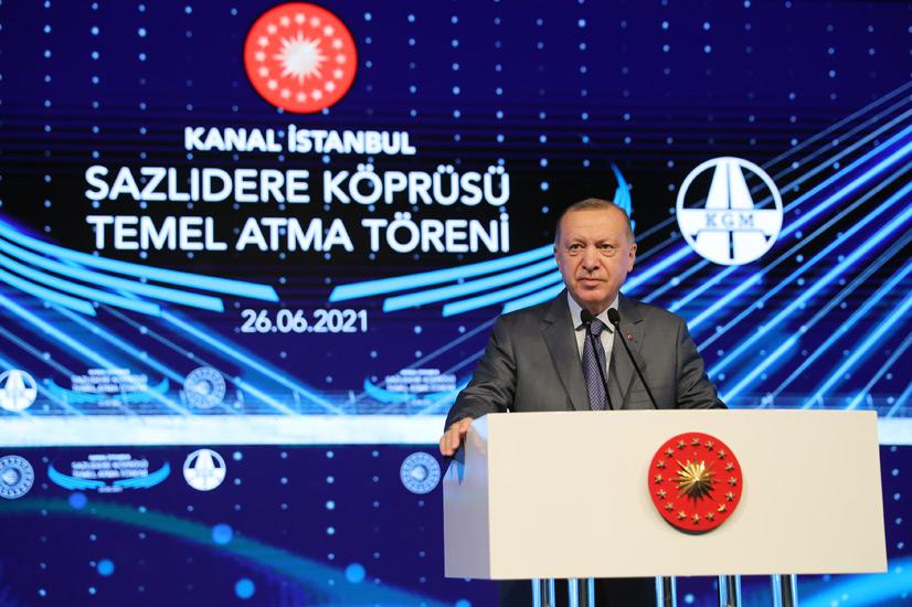 """Cumhurbaşkanı Erdoğan, """"Kanal İstanbul, ülkemizin en önemli değerlerinden biri olarak tarihteki yerini alacaktır"""""""