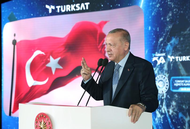 Türksat 5A uydusu hizmete girdi… Cumhurbaşkanı Erdoğan'dan önemli açıklamalar
